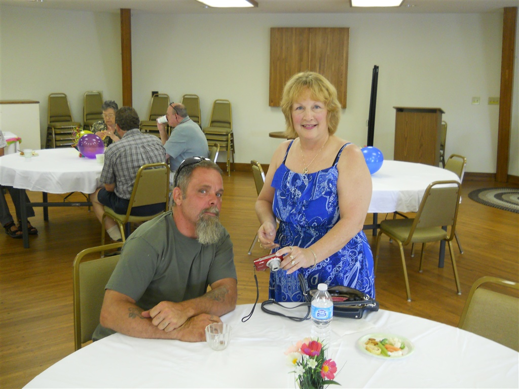Two happy people at the 30th birthday party for the Highland Manor Inn in Townsend TN.