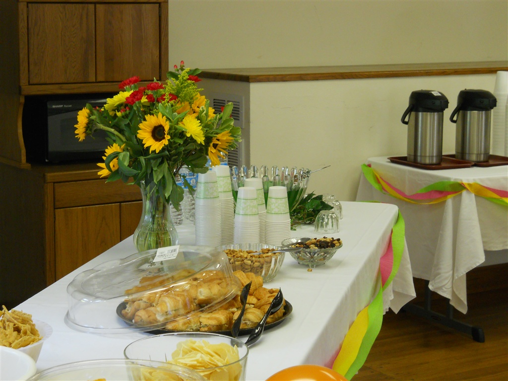 Refreshments at the Highland Manor Inn's 30th birthday party.